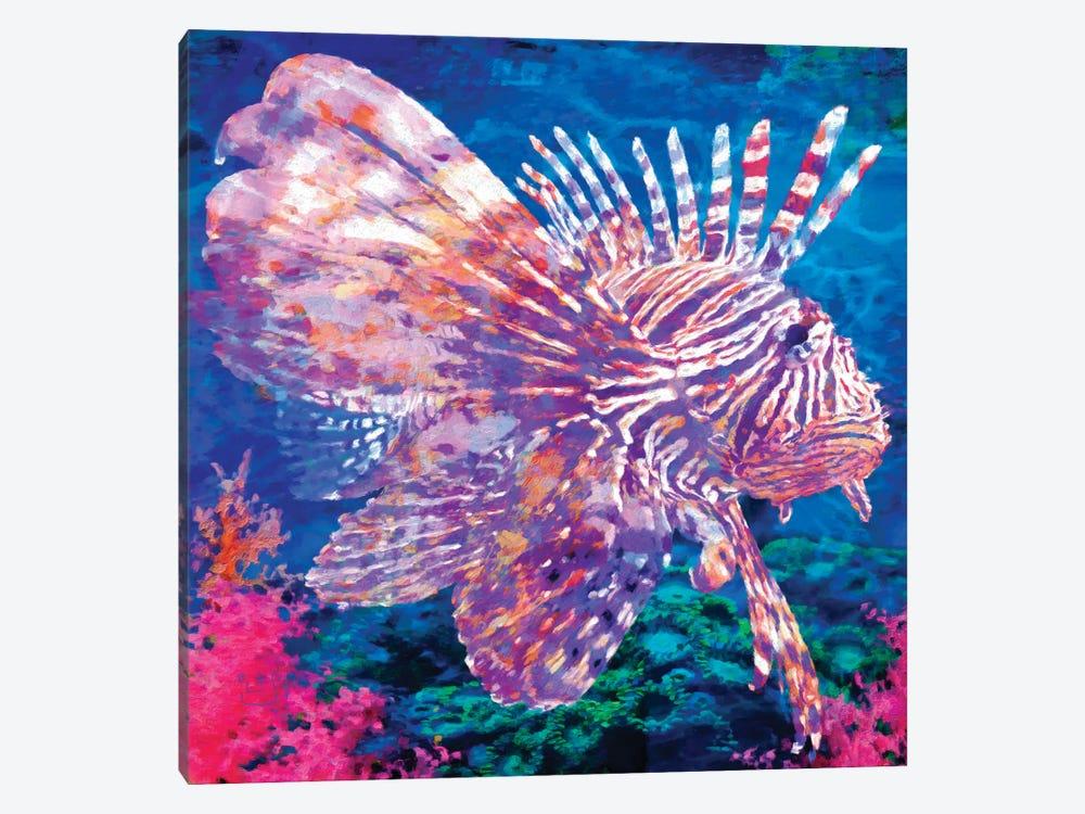 Lion Fish by Lisa Robinson 1-piece Canvas Art Print