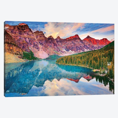Moraine Lake Canvas Print #LIR42} by Lisa Robinson Canvas Art