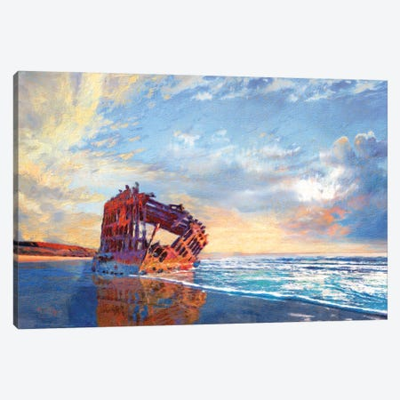 Peter Iredale Canvas Print #LIR47} by Lisa Robinson Canvas Art Print