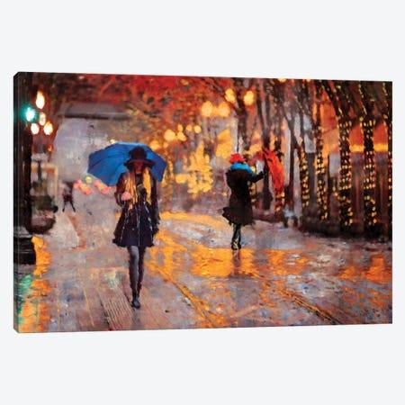 Rain Walk Canvas Print #LIR49} by Lisa Robinson Canvas Art
