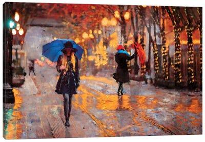 Rain Walk Canvas Art Print