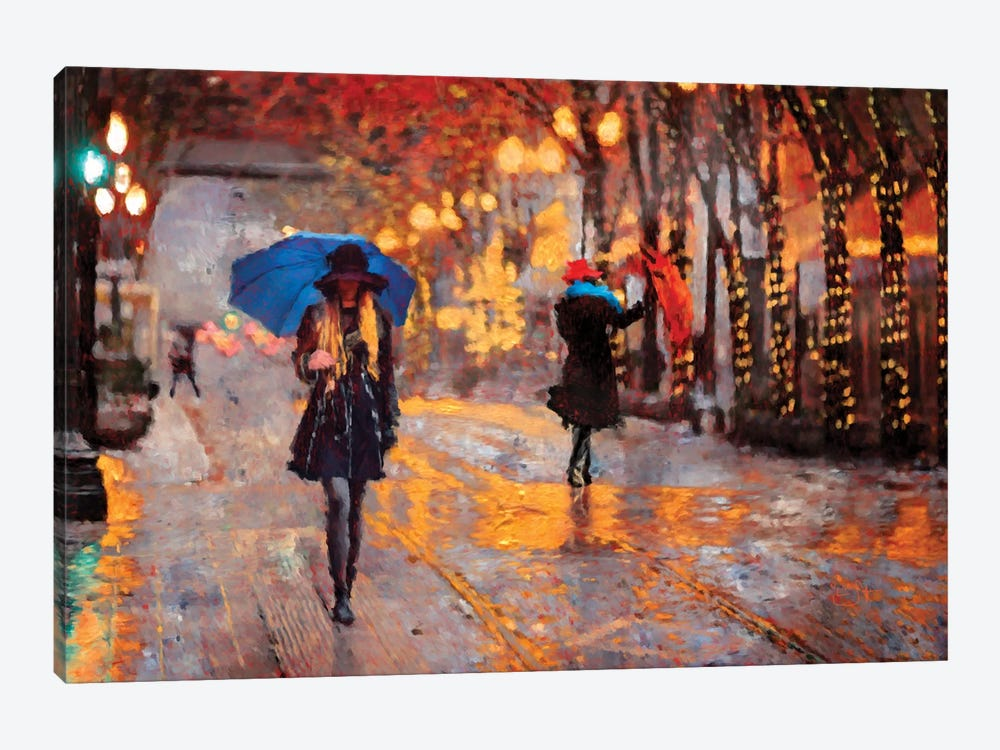 Rain Walk by Lisa Robinson 1-piece Canvas Art