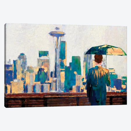 Seattle View Canvas Print #LIR56} by Lisa Robinson Canvas Wall Art