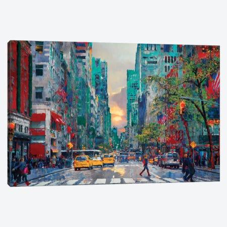 Sliver of Sunset Canvas Print #LIR58} by Lisa Robinson Canvas Print