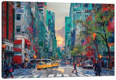 Sliver of Sunset Canvas Art Print