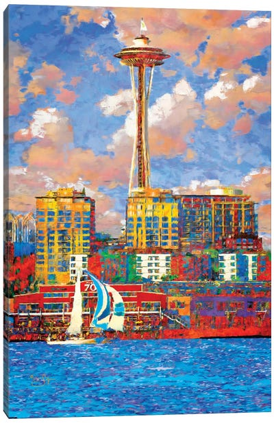 Sunny Seattle Canvas Art Print