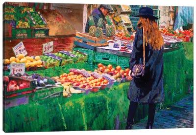 The Market Canvas Art Print