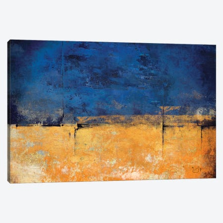 Blue & Gold Canvas Print #LIR9} by Lisa Robinson Canvas Print