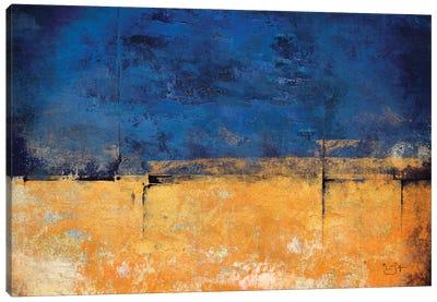 Blue & Gold Canvas Art Print