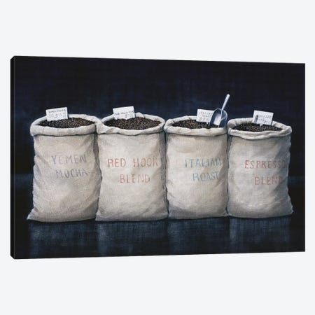 Coffee Sacks Canvas Print #LIS10} by Lincoln Seligman Canvas Wall Art