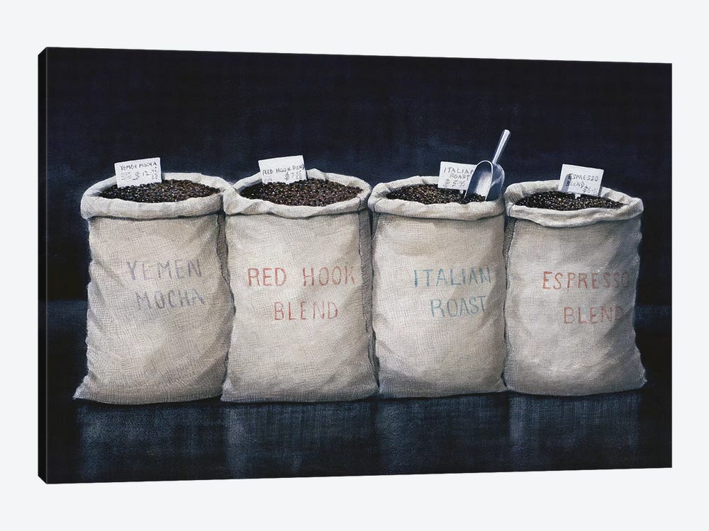 Coffee Sacks by Lincoln Seligman 1-piece Canvas Print
