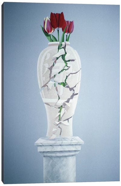 Cracked Urn Canvas Art Print