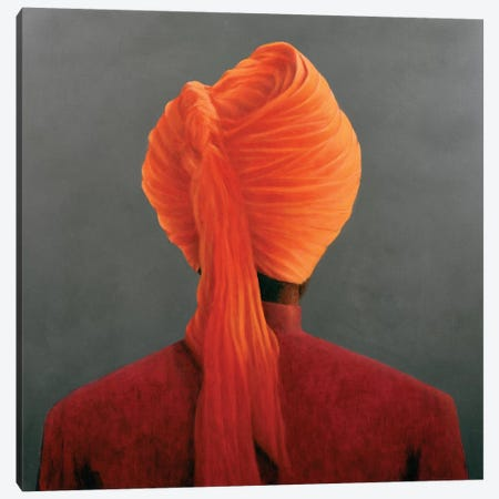 Orange Turban Canvas Print #LIS19} by Lincoln Seligman Canvas Artwork
