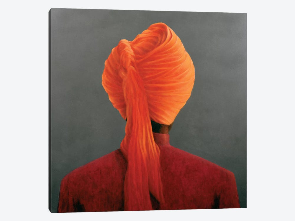 Orange Turban by Lincoln Seligman 1-piece Canvas Wall Art