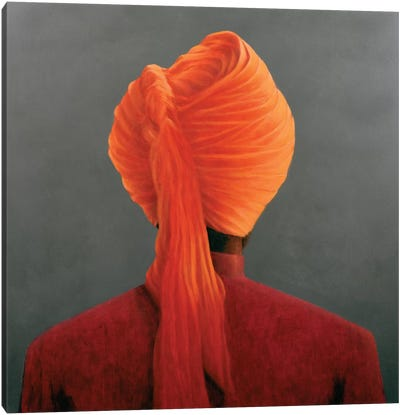 Orange Turban Canvas Art Print