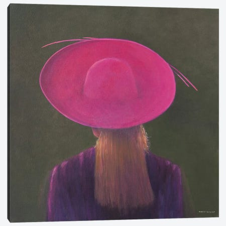Pink Hat Canvas Print #LIS21} by Lincoln Seligman Canvas Art Print