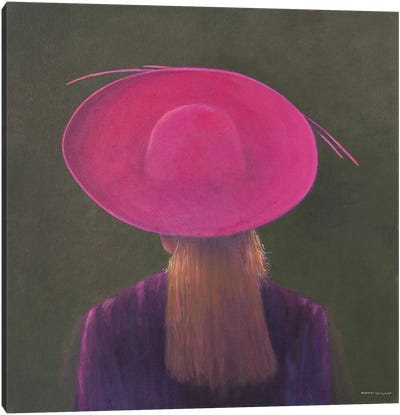 Pink Hat Canvas Art Print