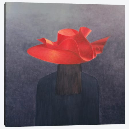 Red Hat Canvas Print #LIS23} by Lincoln Seligman Art Print