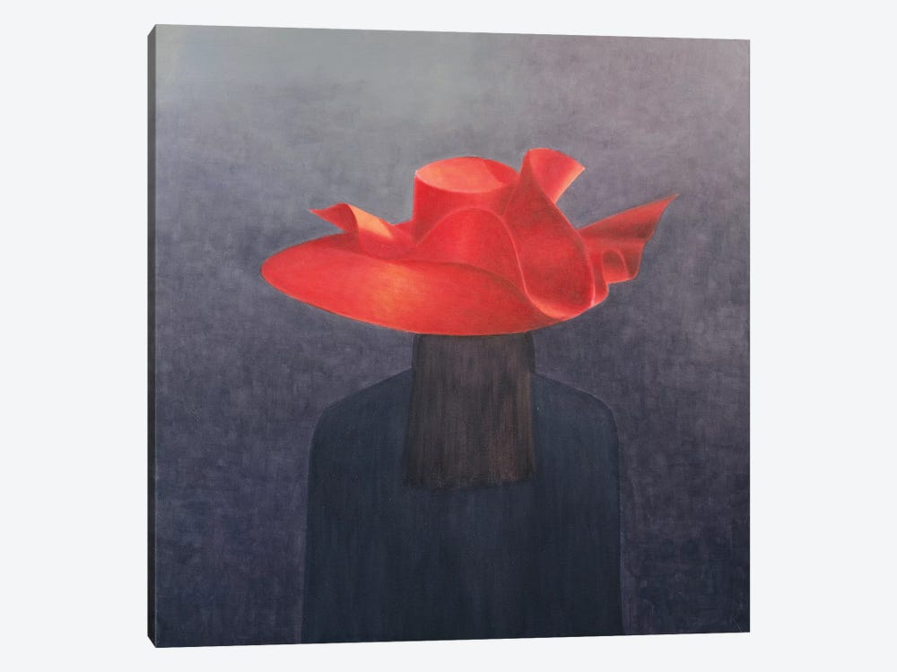Red Hat by Lincoln Seligman 1-piece Art Print