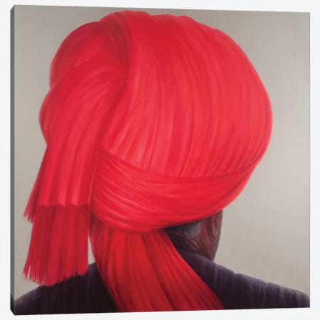Red Turban Canvas Print #LIS24} by Lincoln Seligman Canvas Wall Art