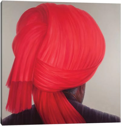 Red Turban Canvas Art Print