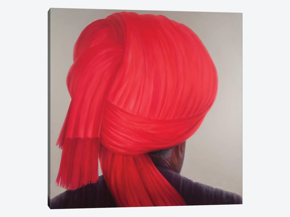 Red Turban by Lincoln Seligman 1-piece Canvas Artwork
