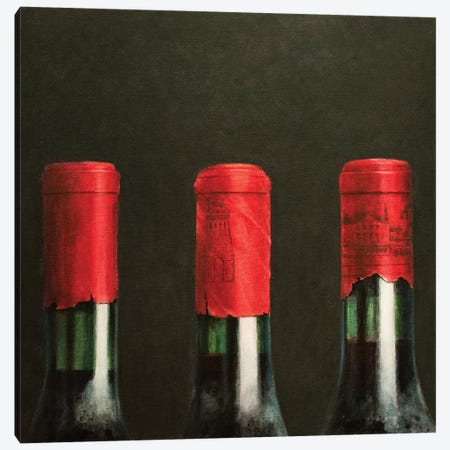 Three Wines Canvas Print #LIS28} by Lincoln Seligman Art Print