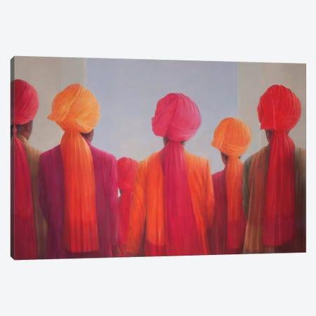Turban Group Canvas Print #LIS29} by Lincoln Seligman Canvas Print