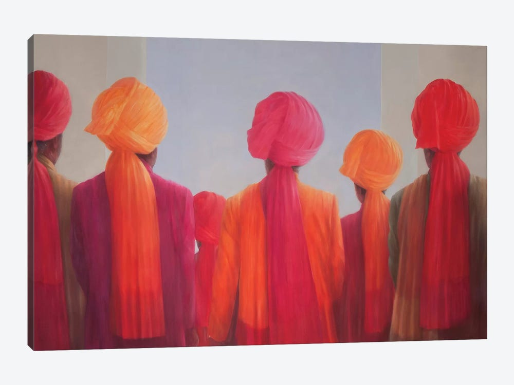 Turban Group by Lincoln Seligman 1-piece Canvas Print
