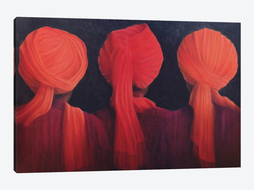 Turban Triptych by Lincoln Seligman 1-piece Canvas Art Print