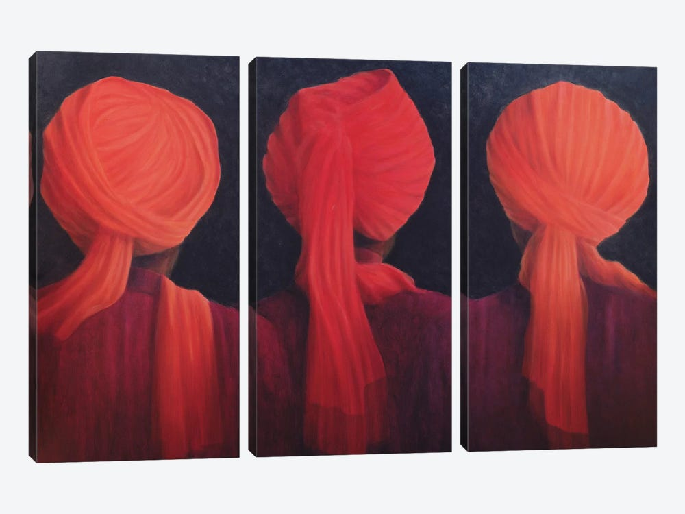 Turban Triptych by Lincoln Seligman 3-piece Art Print
