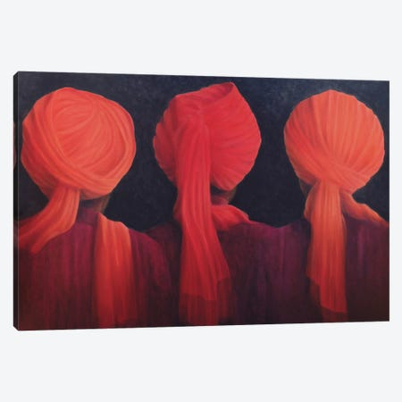Turban Triptych Canvas Print #LIS30} by Lincoln Seligman Canvas Art
