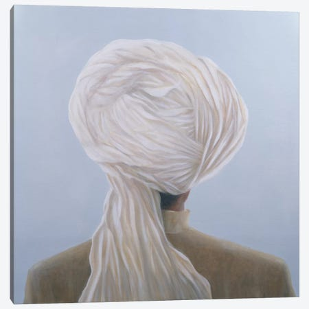 White Turban Canvas Print #LIS33} by Lincoln Seligman Canvas Artwork