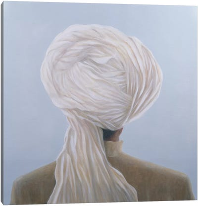 White Turban Canvas Art Print