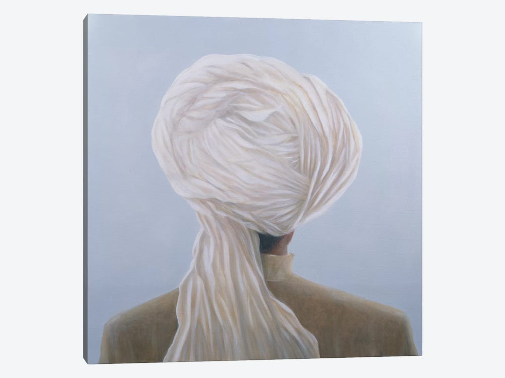 White Turban by Lincoln Seligman 1-piece Canvas Art