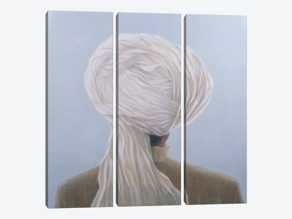 White Turban by Lincoln Seligman 3-piece Canvas Art