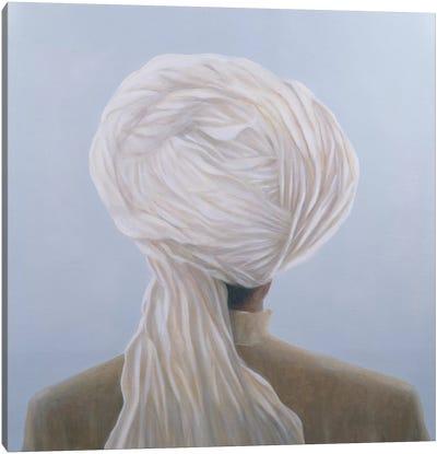 White Turban Canvas Art Print