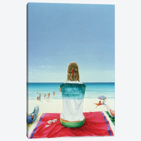 Wrigley Gum Girl II Canvas Print #LIS35} by Lincoln Seligman Art Print