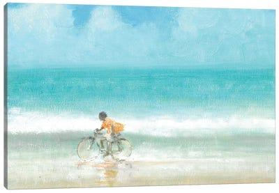 Boy on a Bike, 2015  Canvas Art Print