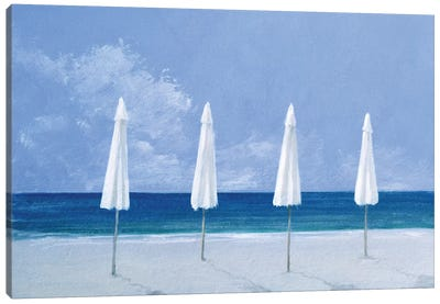 Beach Umbrellas Canvas Art Print