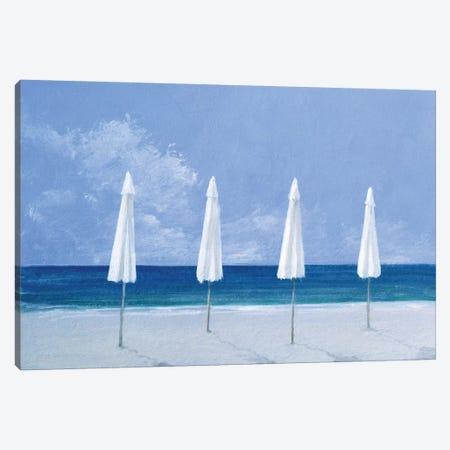 Beach Umbrellas Canvas Print #LIS3} by Lincoln Seligman Canvas Wall Art
