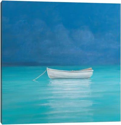 White boat, Kilifi 2012  Canvas Art Print