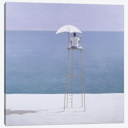 Beach Guard, 2004 Canvas Print #LIS42} by Lincoln Seligman Art Print