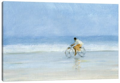 Boy On Bicycle Canvas Art Print