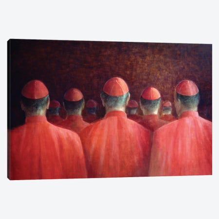 Cardinals, 2005 Canvas Print #LIS47} by Lincoln Seligman Canvas Wall Art