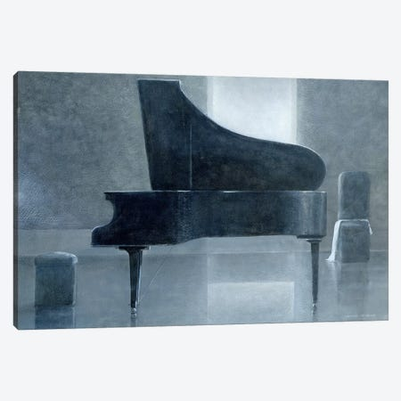 Black Piano Canvas Print #LIS4} by Lincoln Seligman Canvas Art Print