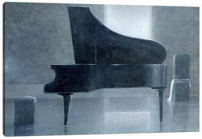 Black Piano Canvas Art Print
