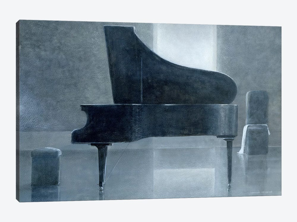 Black Piano by Lincoln Seligman 1-piece Canvas Print
