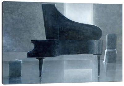 Black Piano Canvas Art Print
