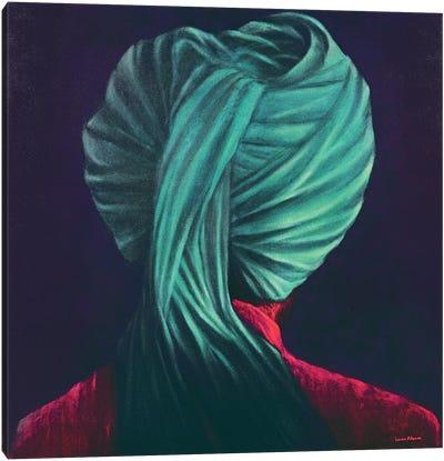 Green Turban Canvas Art Print